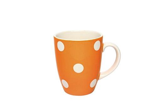 Déjeuner sur l'herbe DH013015 Grand Mug Faïence, Orange, 8,2 x 8,2 x 10 cm