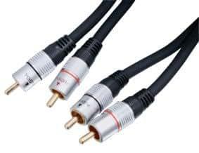 HQ HQSS3611/10 Câble de Connexion Audio/Vidéo RCA Haute Qualité
