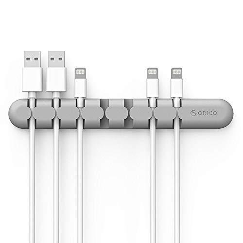 ORICO Desktop Kabelmanagement Kabelführung Kabel Organizer, Silikon Kabel Halterung Clip für Power-Kabel und Ladekabel Zubehör Kabel, Maus Kabel, PC, Büro und Zuhause