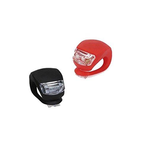 LEvifun 2PCs Fahrradlicht Silikon LED Frontlichter Ventil Licht Fahrrad Rücklicht Fahrradbeleuchtung Fahrradlenker Fahrradlampe Radfahren Superhelle Sport Camping Warnlicht Wasserdicht fuer Kinder/Herren/Damen Raeder F19 (2PCs)