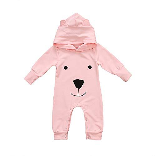 Babykleidung Satz, LANSKIRT Neugeborenes Baby Boy Mädchen mit Kapuze Cartoon Strampler Overall Outfits Kleidung 0-18 Monate (Neugeborene Gestrickt Boy)