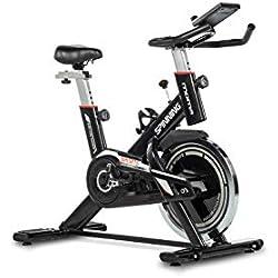 Moma Bikes - Bicicleta Spinning con Volante de Inercia de 24 kg, Negro