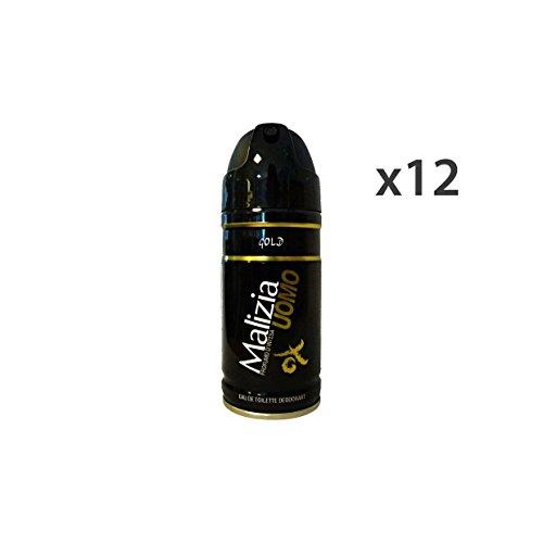 Malizia Set 12 malizia deodorante uomo gold 150 ml. spray körperpflege