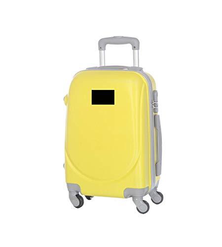 JustGlam - Bagaglio a mano Ormi 2010 Trolley rigido ABS policarbonato 4ruote adatto per voli lowcost / Giallo Grande