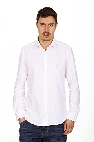 Versace 19.69 Abbigliamento Sportivo Srl mens long sleeve shirt Paris Piquet Bianco white