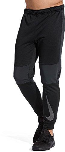 Nike Men's Dry Training Pants, Color BLACK/BLACK/WHITE, Talla L