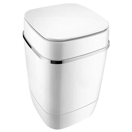 A Washing Machine PequeñA Lavadora SemiautomáTica Compacta, Mini Lavadora PortáTil Lavadora/Secadora De Mostrador para Camping, Apartamentos O Delicados 36 * 59 CM (Blanco