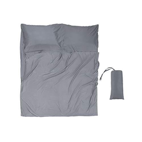 Hüttenschlafsack Mikrofaser 180x220cm für Zwei Person