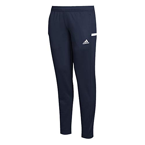 adidas Damen T19 TRK PNT W Pants, Team Navy Blue/White, L - Damen Navy Blau Fußball