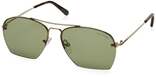 Tom Ford Unisex-Erwachsene Sonnenbrille FT0505 5828N, goldfarbend, 57