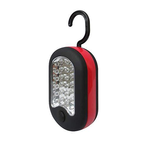 Ogquaton 1 Stücke Kleine und Tragbare 27 LED-Hängelaterne, Campingzelt, Arbeitslampe, Notlicht (Orange)