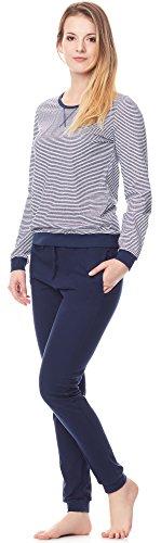 Merry Style Pigiama per Donna MS10-107 Blu scuro