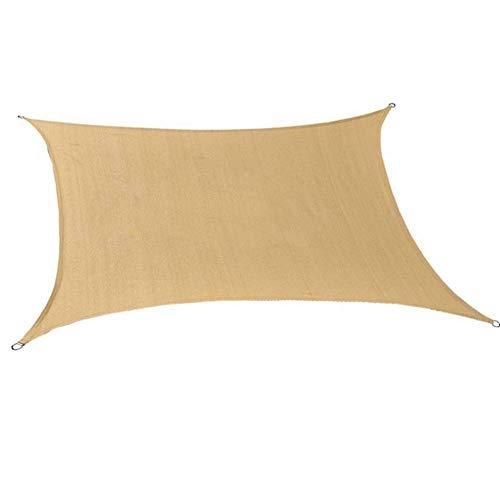 Fotee panno parasole con occhielli, 95% rettangolare tenda a vela con occhielli telone ombreggiante all'aperto rete parasole,beige_3x6m/9x18ft