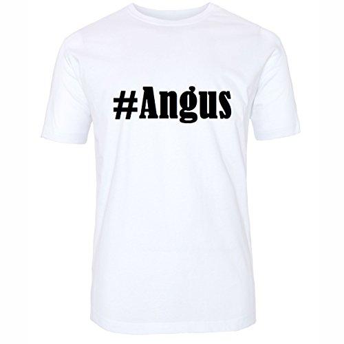 T-Shirt #Angus Hashtag Raute für Damen Herren und Kinder ... in den Farben Schwarz und Weiss Weiß