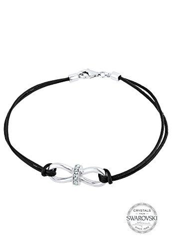 Elli-Damen-Infinity-Unendlichkeit-925-Sterling-Silber-Swarovski-Kristall-Brillantschliff-wei-0210951014-18