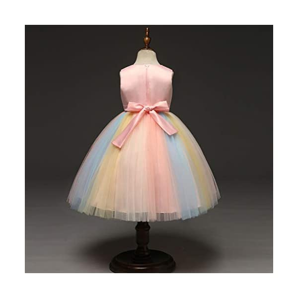 Vectry Vestido Niña Disfraz Niña Bebé Niñas Flores Tulle Princesa Vestido Fiesta Ropa Formal Tutú Princesa Vestido Ropa… 4