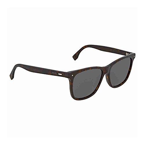 Fendi ff m0002/s ir 086, occhiali da sole uomo, marrone (dark havana/gy grey), 55