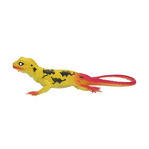 Lebensecht Pädagogisches Spielzeug Gummi Eidechse Modell Figur Reptil Tier - Orange