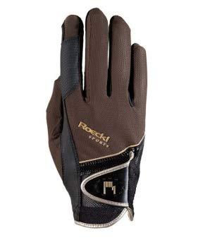 Roeckl Sports Handschuh Madrid, Unisex Reithandschuh, Mokka, Größe 7,5
