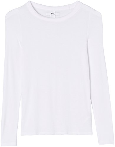 Unearth Damen Langarmshirt aus Feinripp Weiß, 38 (Herstellergröße: Medium)