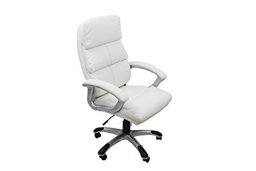 Avanti Trendstore  Sedia ufficio girevole bianca con braccioli, regolabile