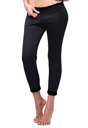 Cross1946 hot shaper pantaloni dimagrante lunghi yoga fitness nero taglia s