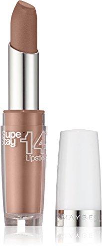 Maybelline New York Make-Up Lippenstift Superstay 14h Lipstick Beige For Good/Glänzendes Hellbraun mit 14 Stunden Halt, 1 x 3,5 g
