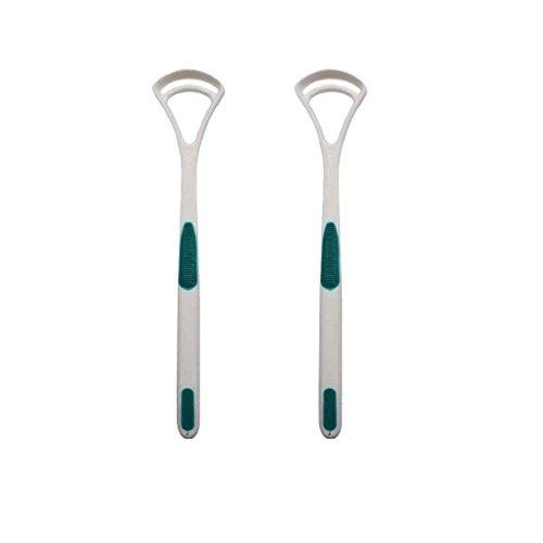 Vkospy 2pcs / Set Zungenreiniger Schaber Kratzer Zungenbelag Bürsten Zungenreiniger zufällige Farbe