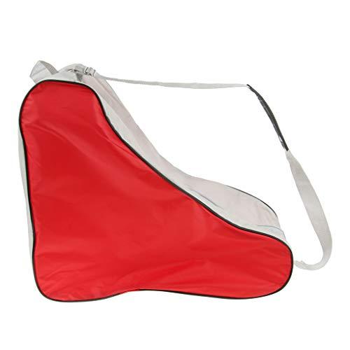 Baoblaze Leicht Inlineskate Schutzhülle Skateschuhe Tasche, Wasserdicht und Waschbar - Rot