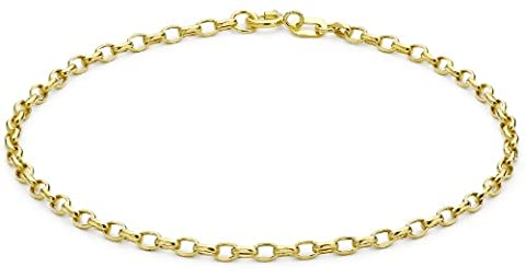 Carissima Gold 9ct Yellow Gold Diamond Cut Link Bracelet of 19cm/7.5