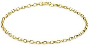 Carissima Gold 9ct Yellow Gold Diamond Cut Link Bracelet of 19cm/7.5""