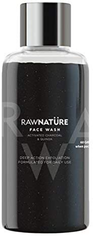 RawNature | Face Wash | Natural - Activated Charcoal & Quinoa | - 60 gm (Suitable for All Skin type) - (Pack of 1)