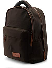 334ebdb8b1 Rimo Best Casual Laptop Backpack for Men   Women college girls boys fits 17  inch Vintage Canvas   Vegan Leather 20 Ltr Top Selling…