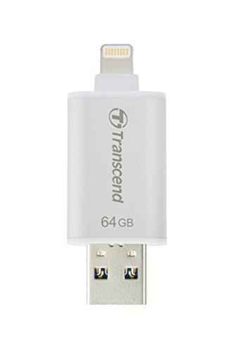 transcend-ts64gjdg300s-jetdrive-go-300-memoria-usb-per-iphone-ipad-e-ipod-64-gb-argento