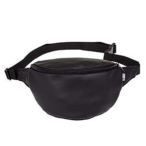 Bauchtasche, Kunstleder schwarz, Hipbag, Umhängetasche, fanny pack, cross bag