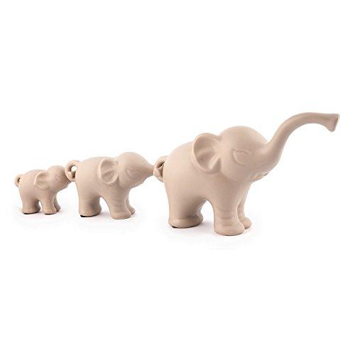Pajoma de Elefante Trio Family I' de Porcelana, 26,5x 8,5x h 15cm