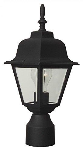 Craftmade Coach Lights Z175 Außenpfostenleuchte Traditionell Post Mount matte black - Matte Black Outdoor Post