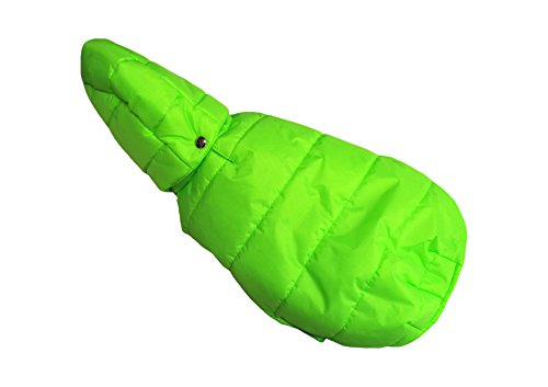 Manteau imperméable matelassé avec capuche amovible cm 47 Fashion Dog vert fluo