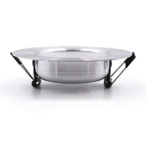 Ic-einbauleuchte (Magosca Blendfreie LED Einbauleuchte Decke Silbrig IC LED Treiber 9W / 12W COB Warmweiß/Kaltweiß Nordic Embedded Integrierte Flächenleuchte Für Wohnzimmer Küchenbeleuchtung AC 110V-220V)