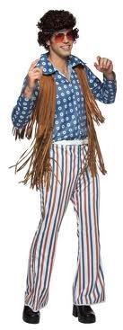 nny Bravo Hippie 70'S Male Costume Adult Standard ()