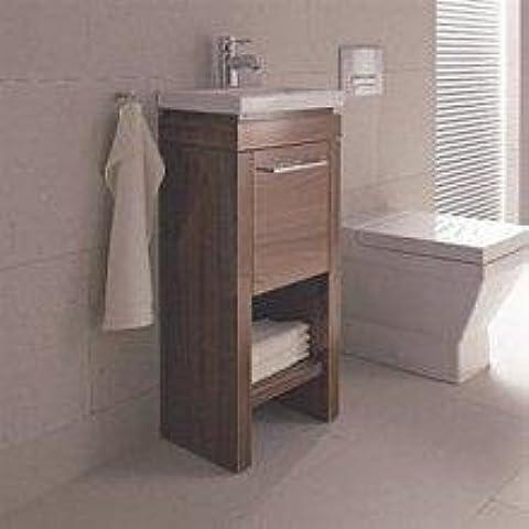 Duravit lavabo debajo del gabinete de pie. 2nd Floor 420 x 580 x 860 -880 millimeter 1 cajón, para 049160, madera de roble de nailon tranzado