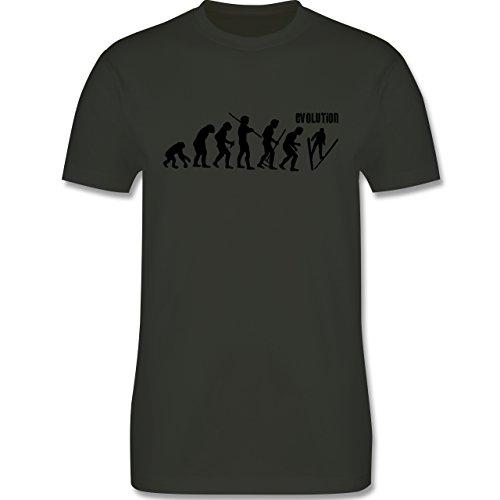 Evolution - Skisprung Evolution - Herren Premium T-Shirt Army Grün