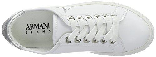 Armani Jeans 9252207P610, Scarpe da Ginnastica Basse Donna Bianco (Bianco)