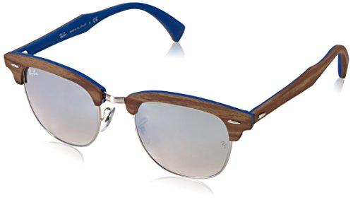 Ray-Ban Unisex-Erwachsene Sonnenbrille Clubmaster Braun (Marrone/blu) 51