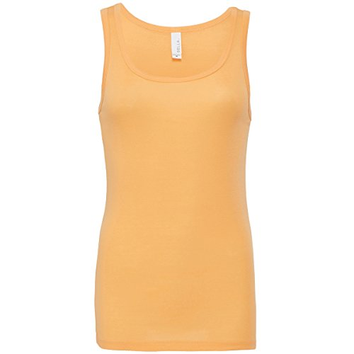 Sheer rib tank top Bella Canvas Streetwear Canotta Donna Orange Sorbet