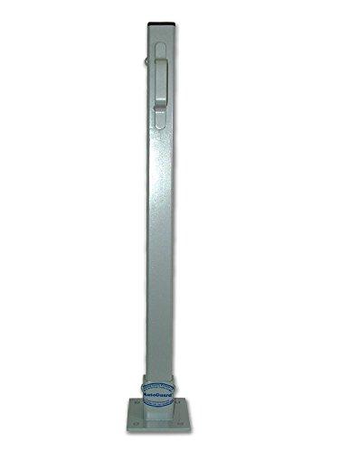 ald68-kickstop verzinkt CP1Bolt Fix Parking Post C/W Schwarz Wetter Gap & 'D' Geformter Griff -