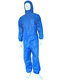 Einwegoverall NITRAS Polysafe BASIC II, blau, CAT III Typ 5+6, SMS, Asbest, Gr.: L - XXXL