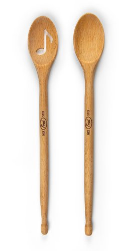 Fred friends mix stix drumstick spoons set of 2 for Baguette de bois