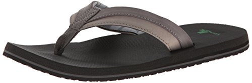 Sanuk Flip Flops - Sanuk Beer Cozy Light Flip F... Charcoal