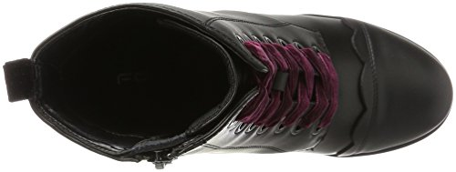 Fornarina Bea, Chaussures Plateforme Femme Schwarz (noir / Bordeaux)